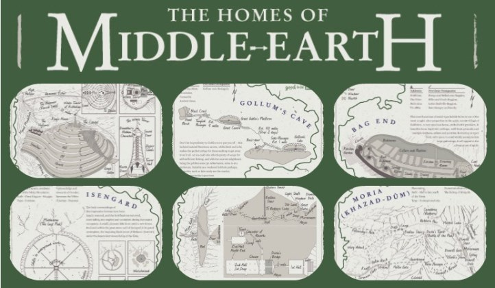 Good to be Home, homes of Middle Earth infographic