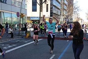 Iain O'Donnell running the marathon in Barcelona