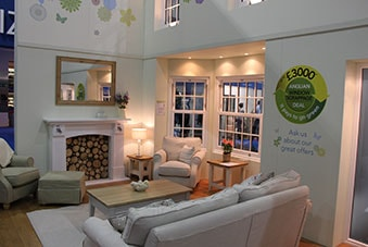 The Anglian Home Improvements stand at the Ideal Home Show 2014