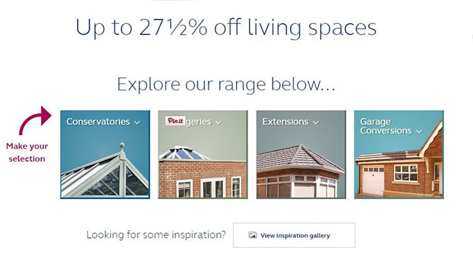 Living Spaces options for you to choose from