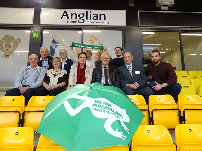 Anglian invited MacMillan to their VIP box at Carrow Road.