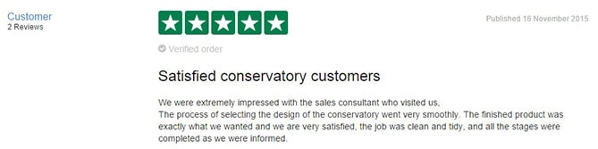 Mr Evans' TrustPilot review of Anglian Home Improvements