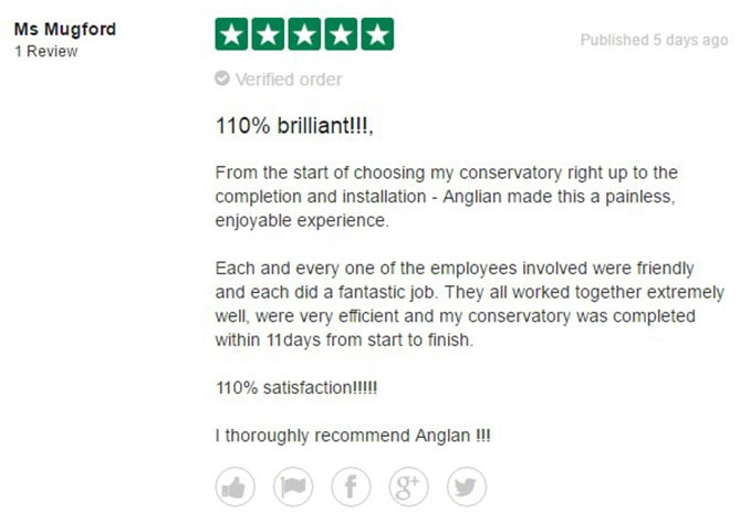 Ms Mugford Anglian Home Improvements Review of the Week