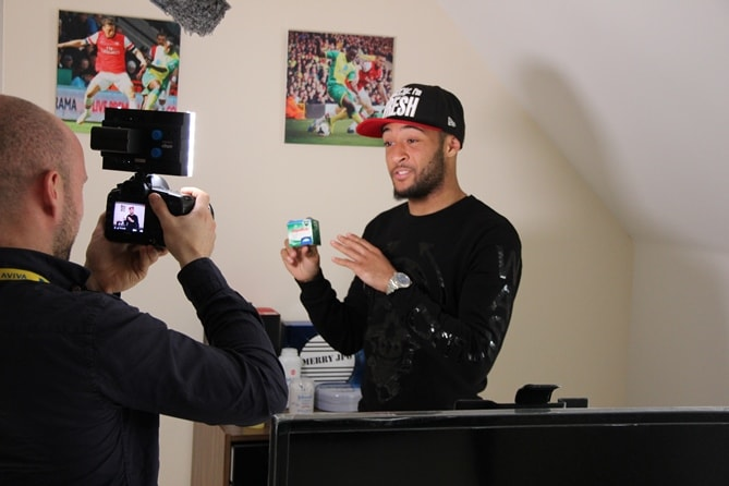 Nathan Redmond talking in Loza's room