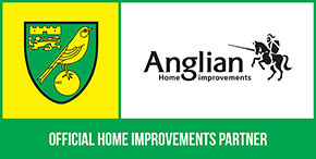 Norwich City Partner logo with Anglian