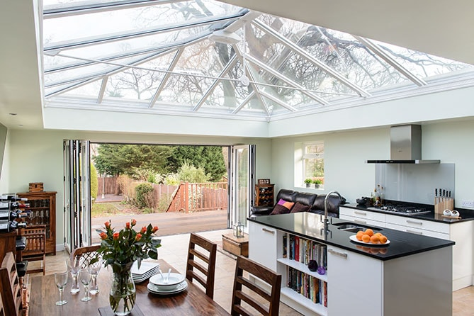 Anglian Orangery with a kitchen