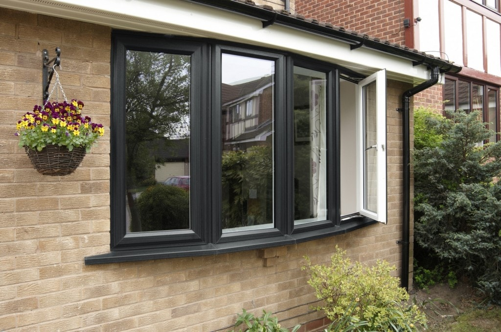 Anglian uPVC windows in anthracite grey