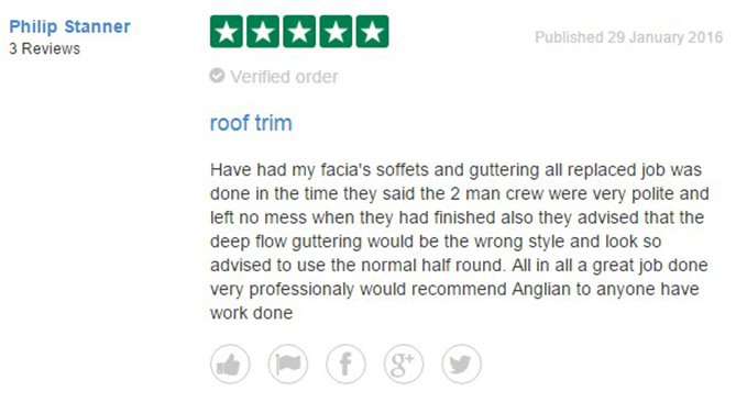 Philip Stanner's Review of Anglian Home Improvements