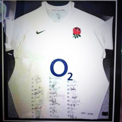 Signed England Rugby Shirt for Auction