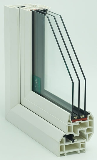 Cross section of an Anglian Triple Glazed window