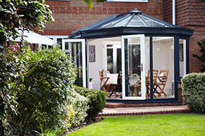 Anglian uPVC Dual Anthracite Grey Conservatory