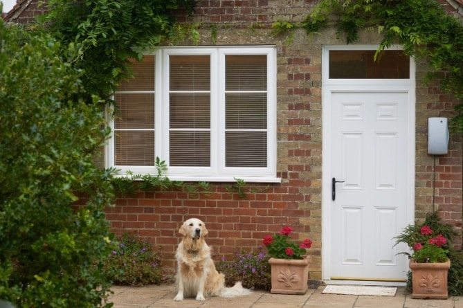 Anglian white window and door