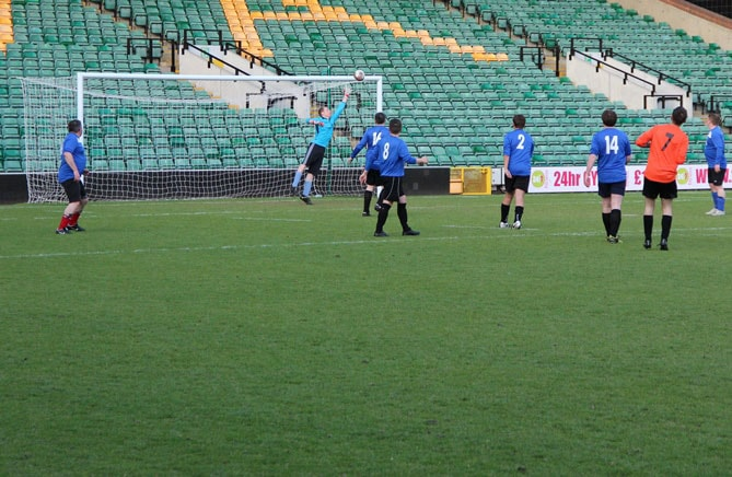 The factory team scored a wonder goal at Carrow Road