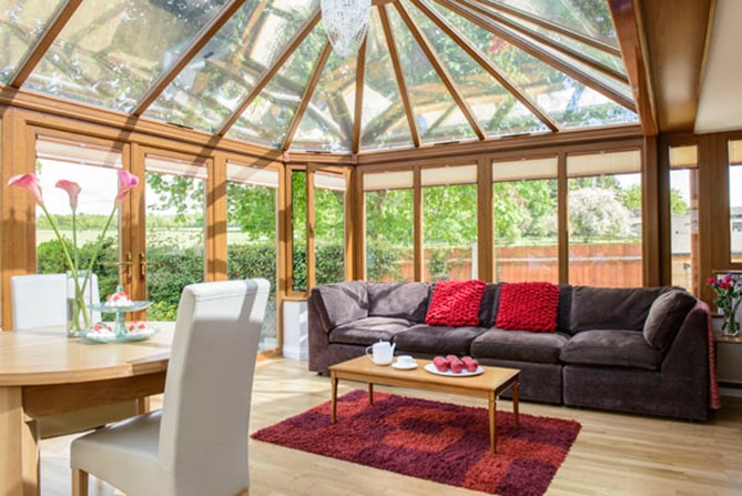 Wooden Edwardian Conservatory