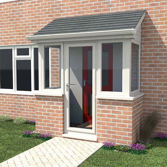 Porches upvc wooden aluminium porches anglian home for House front design ideas uk