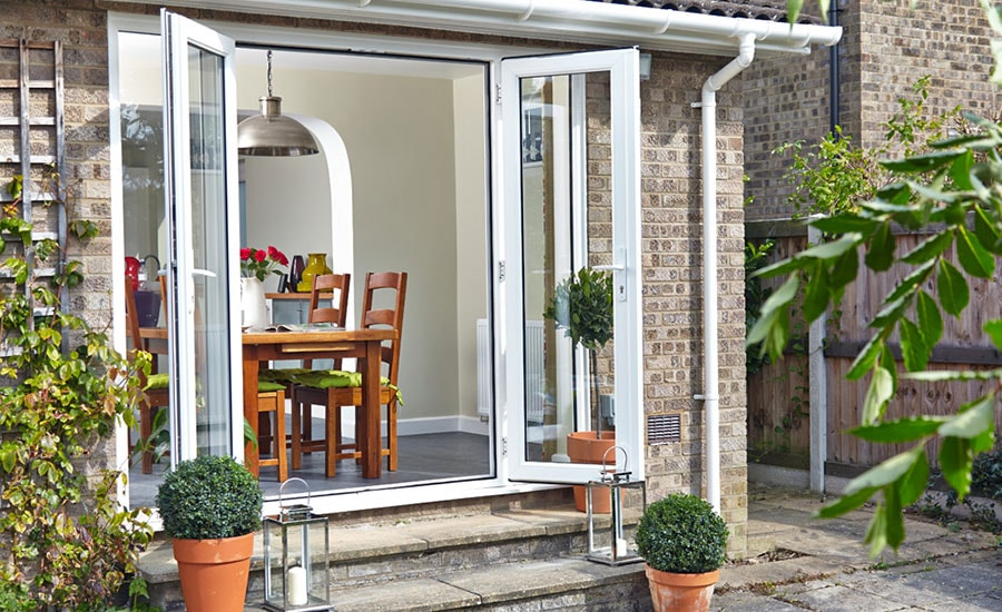 Anglian white uPVC French doors
