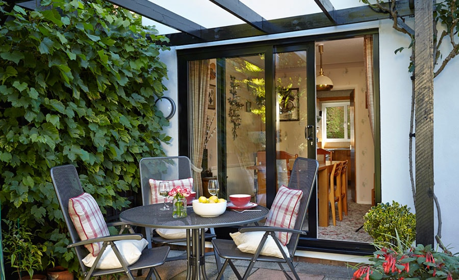 Anglian patio doors in Black