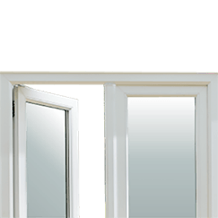 French doors tile