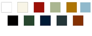 Colours available for GRP garage doors