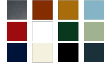 Available colours for our sectional garage doors
