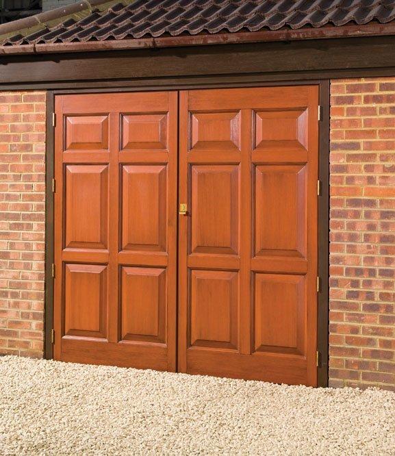 grp side hinged garage doors anglian home