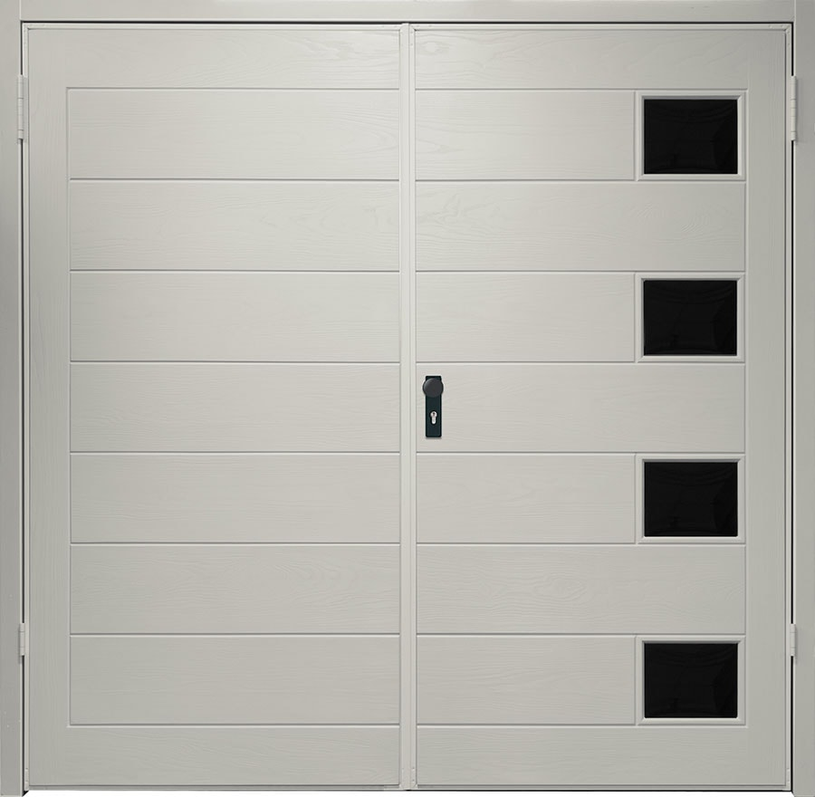 Grp Side Hinged Garage Doors Anglian Home