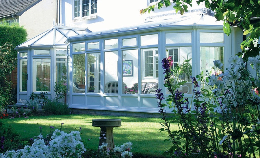 White Knight uPVC P shape conservatory
