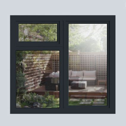 Anthracite Grey aluminium casement window