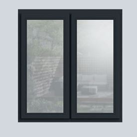 Wooden casement window in Anthracite Grey