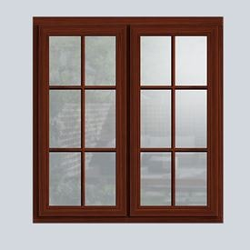 Dark Woodgrain wooden cottage window