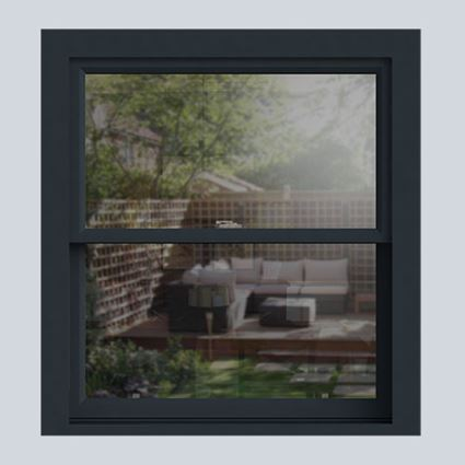 Anthracite Grey wooden sash window