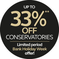 Up to 33% off conservatories