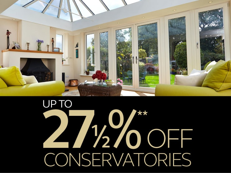 up to 27.5% off conservatories