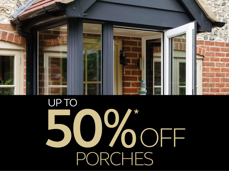 up to 50% off porches