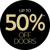 up to 50% off doors