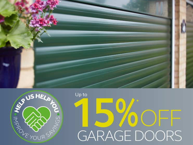 up to 15% off garage doors