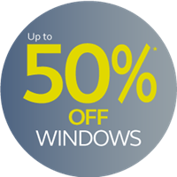 up to 50% off windows
