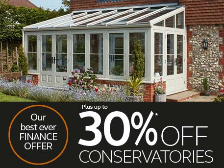 up to 30% off conservatories
