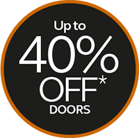 up to 40% off doors
