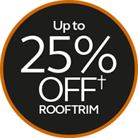 up to 25% off rooftrim
