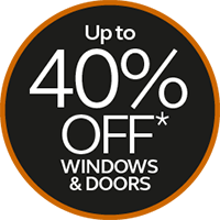 up to 40% off windows and doors