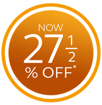 27 and a half percent off conservatories, orangeries and extensions