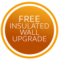 Free insulated wall upgrade on garage conversions