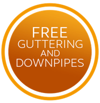 Free guttering and downpipes plus 5% off rooftrim