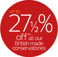 27.5% off conservatories