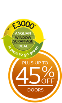 Save up to £3,000 plus up to 45% off doors with the Anglian Scrappage Scheme