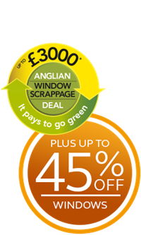 Save up to £3,000 plus up to 45% off windows with the Anglian Scrappage Scheme