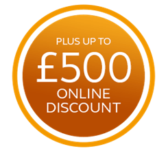 Plus up to £500 additional online discount