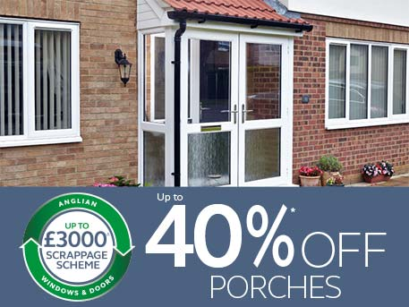 up to 40% off porches