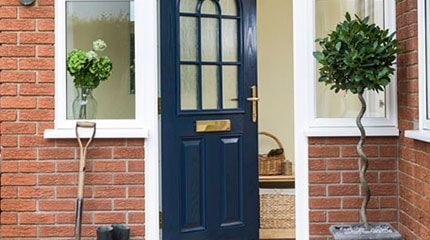 A completed Anglian door installation